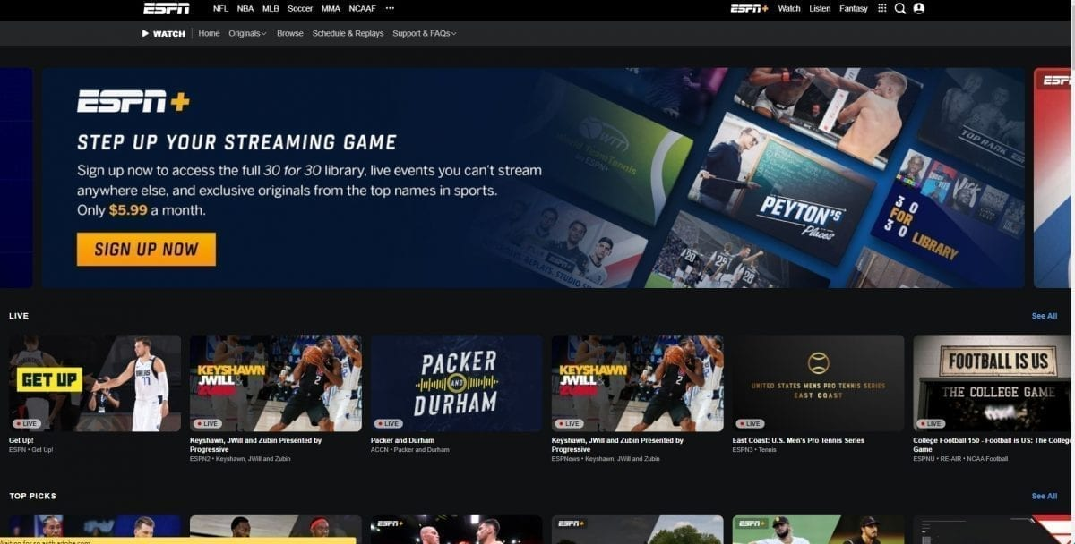 ESPN WATCH, stream sports online, watch sports online free, sport streaming sites, how to watch sports online